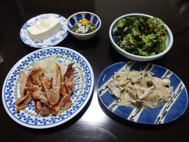 鶏セセリと鱈の献立例